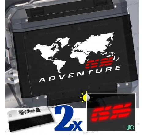 2pz Kit Adesivi Compatibili con Valigie Laterali di moto BMW GS